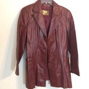 🧡SALE🧡 VINTAGE  leather jacket trench coat